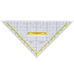 ARISTO TZ-Dreieck, mit Facette, Hypotenuse: 22,5 cm, glasklar