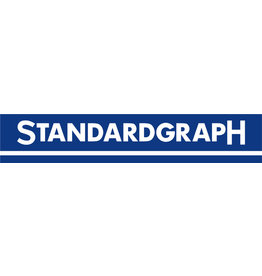 Standardgraph Zeichendreieck, Hypotenuse: 16 cm, 180°, mm-Teilung, glasklar