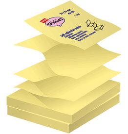 STAPLES Haftnotiz Z-Notes, 76 x 76 mm, gelb, 100 Blatt