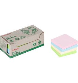 STAPLES Haftnotiz stickies™ RC, 76 x 76 mm, sortiert, 100 Blatt