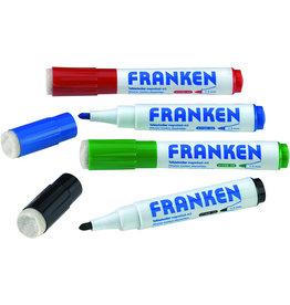 FRANKEN Boardmarker, MagWrite®, Rundspitze, 1 - 3 mm, Schreibf.: 4er sortiert