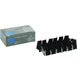 ALCO Briefklemmer Foldback, Metall, B: 15 mm, Klemmweite: 5 mm, schwarz