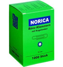 NORICA Büroklammer, rund, Met., glanzverzinkt, L: 32 mm