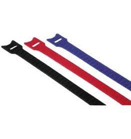 hama Kabelbinder, 12x145mm, Ø 35mm, Nylon, Klettverschluss, ro/bl/sw