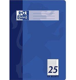 Oxford Schulheft, Lin.: 25, liniert mit Rand, A4, Einband: blau, 16 Blatt