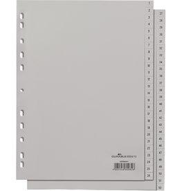 DURABLE Register, PP, 1-52, Universallochung, A4 hoch, volle Höhe, 52 Blatt