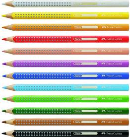 FABER-CASTELL Farbstift Jumbo GRIP, Schreibf.: schwarz, Code: 99
