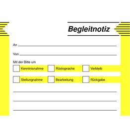 sigel Haftformular, Begleitnotiz, 100x75mm, weiß, Druckf.: gb/sw, 50Bl.