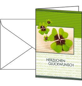sigel Designkarte, Glückwunsch, Klappkarte mit Umschlag, 11,5 x 17 cm, grün