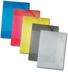 folia Einschlagmappe, Kunststoff, Eckspanngummi, A3, 5farbig sortiert