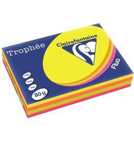 Clairefontaine Multifunktionspapier Trophée, A4, 4farbig sortiert, 4 x 125 Blatt