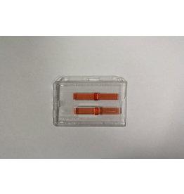 ID Ausweishalter ID 38 D, quer, transparent, für 2 Ausweise, Schieber rot