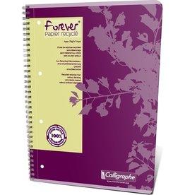 Calligraphe Collegeblock Forever®, vio, kar., A4, 70g/m², RC, weiß, 80Bl.