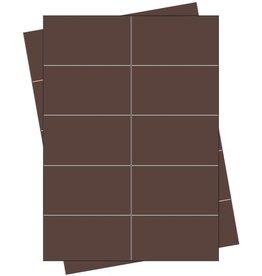 Pressel Etikett, Handbeschriftung, selbstklebend, permanent, 68 x 35 mm, braun
