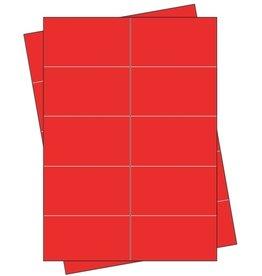 Pressel Etikett, Handbeschriftung, selbstklebend, permanent, 68 x 35 mm, rot