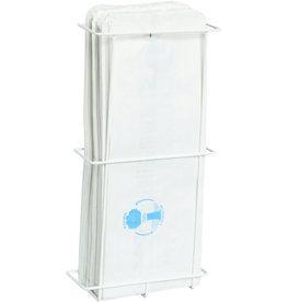 GOLDPACK Hygienebeutelspender, Metall, für: 100 Beutel, 13 x 5,5 x 38 cm, weiß