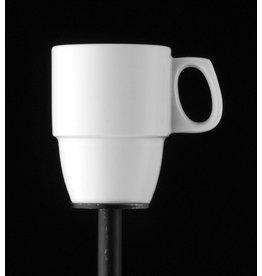 BAUSCHER Kaffeebecher, dimension, Mehrweg, Porz., rund, 290ml, 7,8x10,2cm, weiß