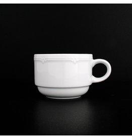 Eschenbach Kaffeetasse Minoa, Porz., stapelbar, rund, 180ml, weiß [6st]