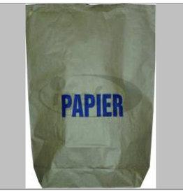 Müllsack, Motiv: PAPIER, 2lagig, 120 l, 700 x 950 mm, naturbraun