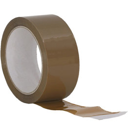 Packband, PP, 25 mm x 66 m, braun