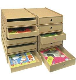 Pressel Schubladenbox, mit 1 Schublade, A4, 258 x 347 x 75 mm, natur