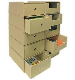 Pressel Schubladenbox, Wellpappe, mit 1 Schublade, A4, 258x347x145mm, natur