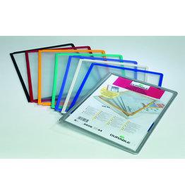 DURABLE Sichttafel SHERPA®, PP, A4, farblos/sortierter Rahmen