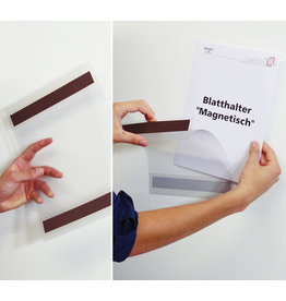 dinafix Sichttasche, magnetisch, Antireflexfolie, A4 quer, transparent