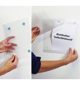 dinafix Sichttasche, selbstklebend, Antireflexfolie, A4 quer, transparent