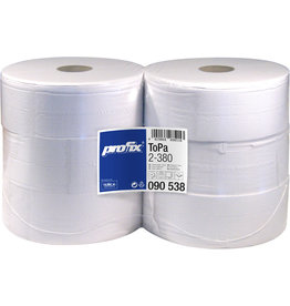 profix Toilettenpapier, 2lg., Großrolle, 2.111 Blatt, 9,7 x 18 cm, hochweiß