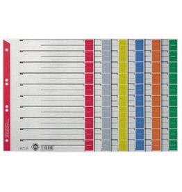 LEITZ Trennblatt, Kraftkarton (RC), Standardlochung, A4, grau/rot