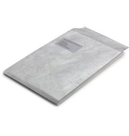 Bong Versandtasche, m.Falte, 20mm, m.Fe., hk, C4, 229x324mm, Tyvek®, weiß