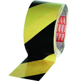 tesa Warnband, diag.gestreift, sk, 50mmx25m, sw/gb