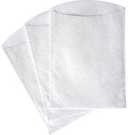 TEMDEX Waschhandschuh, Molton, Vlies, 16x23cm, weiß, 20x50St.