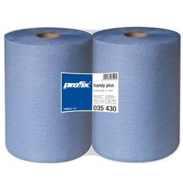 profix Wischtuch handy plus, 2lagig, auf Rolle, 36 x 38 cm, blau