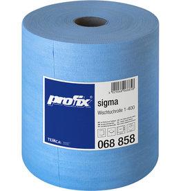 profix Wischtuch sigma, auf Rolle, 400 Tücher, 34 x 36 cm, blau