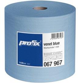 profix Wischtuch venet, 1lg., auf Rolle, 500 Tücher, 38 x 29 cm, blau