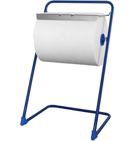 profix Wischtuchspender, Metall, für: 1 Großrolle, 43 x 51 x 85 cm, blau