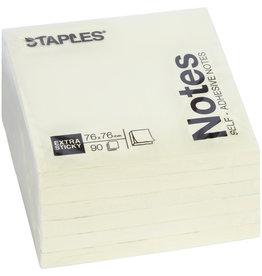 STAPLES Haftnotiz Extra Sticky, 76 x 76 mm, gelb, 90 Blatt