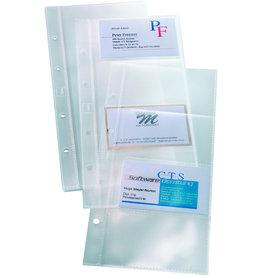 sigel Visitenkartenhülle, 111x252mm, transparent, für: 8 Visitenkarten