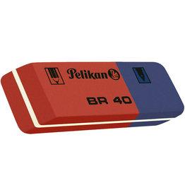 Pelikan Radierer BR 40, Kautschuk, 58 x 20 x 8 mm, rot/blau