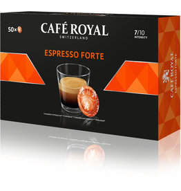 CAFÉ ROYAL Kapsel, ESPRESSO FORTE, vollmundig, koffeinhaltig, 50 x 6 g