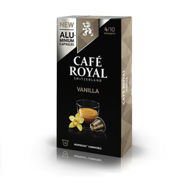 CAFÉ ROYAL Kapsel, VANILLA, koffeinhaltig, 10 x 5 g