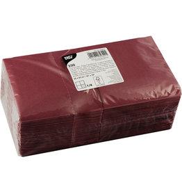 PAPSTAR Serviette, Tissue, 3lagig, 1/4 Falz, 24 x 24 cm, bordeaux