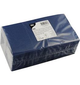 PAPSTAR Serviette, Tissue, 3lagig, 1/4 Falz, 24 x 24 cm, dunkelblau