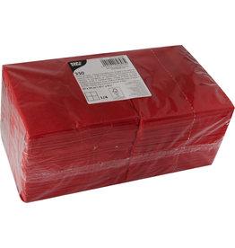 PAPSTAR Serviette, Tissue, 3lagig, 1/4 Falz, 24 x 24 cm, rot