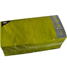 PAPSTAR Serviette, Tissue, 3lagig, 1/4 Falz, 33 x 33 cm, olivgrün