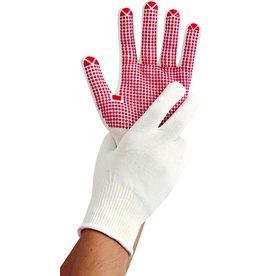 HYGOSTAR Handschuh Structa II, Nylon/Baumwolle, Größe: M, Größe: 8, weiß/rot