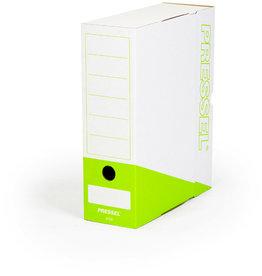 Pressel Archivbox, Steckverschluss, A4, 10x26x32cm, weiß/apfelgrün