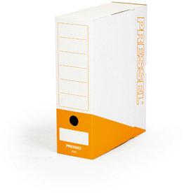 Pressel Archivbox, Steckverschluss, A4, 10x26x32cm, weiß/orange